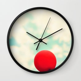 Nowhere To Go But Up Wall Clock