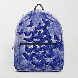 Shadow butterflies emerging from dark chrysalis Backpack