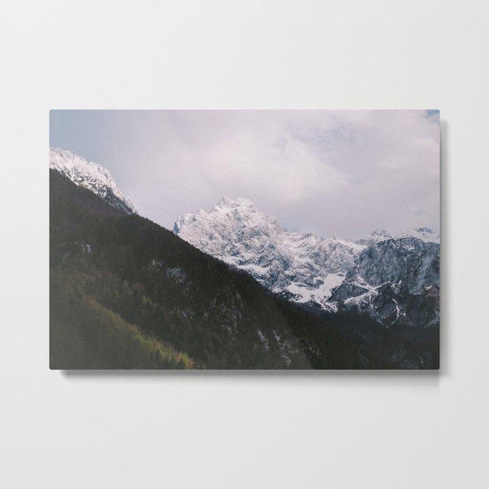 Contrast Mountains Metal Print