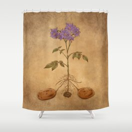 Anatomy of a Potato Plant Shower Curtain