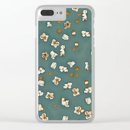 THERE'S ALWAYS TIME FOR POP CORN! - GREEN Clear iPhone Case