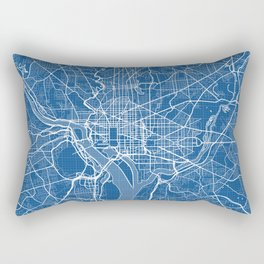 Washington D.C. City Map of the United States - Blueprint Rectangular Pillow