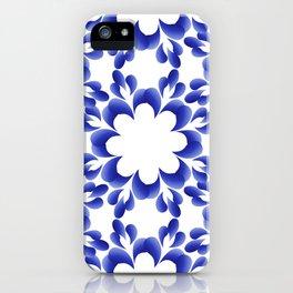 Ornament blue iPhone Case
