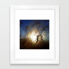 The Cold Framed Art Print