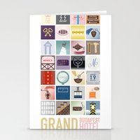 budapest hotel Stationery Cards featuring The Grand Budapest Hotel by Giulia Brolese