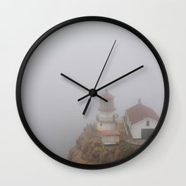 Little Lighthouse by the Sea - Point Reyes, California Wall Clock