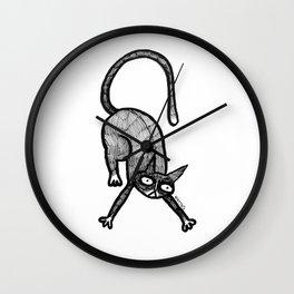 stretchy kat Wall Clock