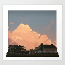 the edge of summer Art Print