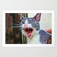 dentist Art Prints featuring While at the Dentist by Music of the Heart