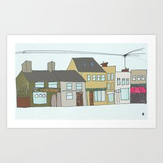 Sea rd. Galway city, Ireland. Art Print