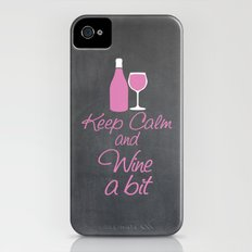Keep Calm and Wine a Bit iPhone (4, 4s) Slim Case