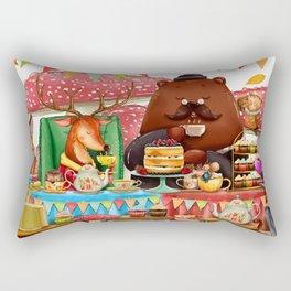 Autumn tea party #1 Rectangular Pillow