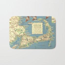 Vintage Cape Cod Map (1940) Bath Mat