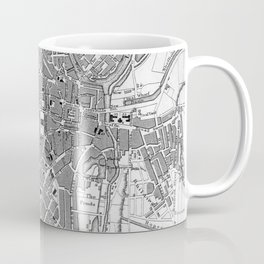 Vintage Map of Sheffield England (1823) Coffee Mug
