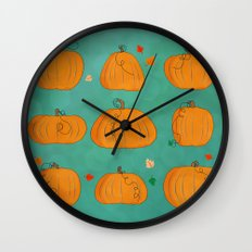 pumpkins Wall Clock