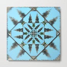 Clocks mandala Metal Print