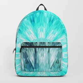 Teal Blue Mandala Backpack