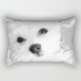Puppy Dog Rectangular Pillow