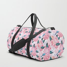 parrots and flowers Duffle Bag