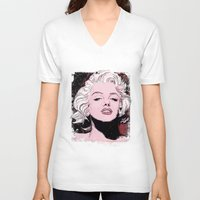 monroe V-neck T-shirts featuring Monroe by Todd Bane