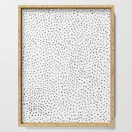 Dotted White & Black Serving Tray