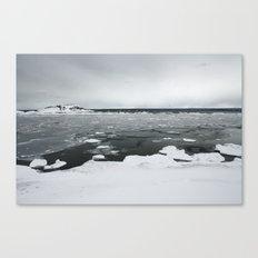 Ice on Lake Superior Canvas Print