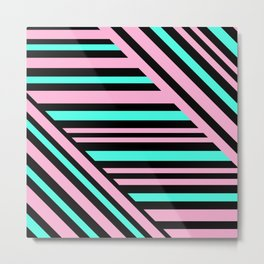 Geometric pattern. Striped triangles 5 Metal Print