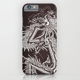 Quetzalcoatl Black/brown/white iPhone Case