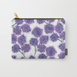 Butterfly Blue Floral Pattern Carry-All Pouch