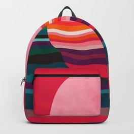pink liquid sun modern shape Backpack