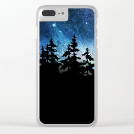 stary sky Clear iPhone Case