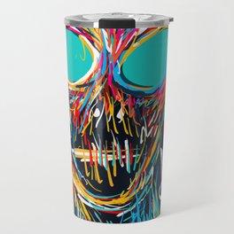 I'm not scared street art graffiti portrait Travel Mug
