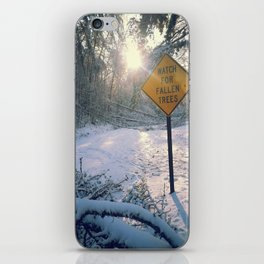 Snowy Road iPhone Skin