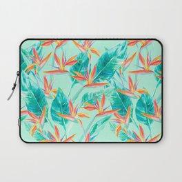 Birds Of Paradise Mint Laptop Sleeve
