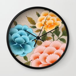 Korea traditional flower art moran2 Wall Clock