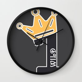 Wild One First Birthday Baby Gift Wall Clock