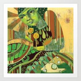 Green Music Art Print