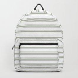 Large Desert Sage Grey Green Mattress Ticking Backpack