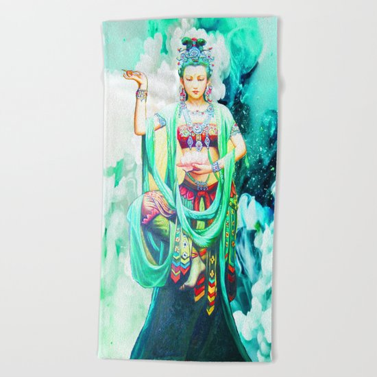 The Goddess of Mercy Beach Towel
