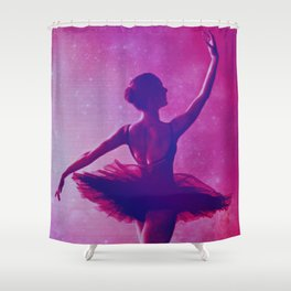 BallEt In stArs Shower Curtain
