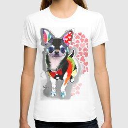 Chihuahua Pop Art Collage T-shirt