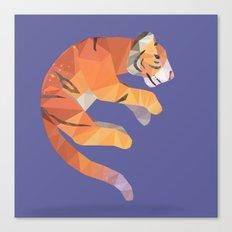 Flying Siberian Tiger Canvas Print