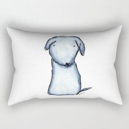 Puppy Blue Rectangular Pillow