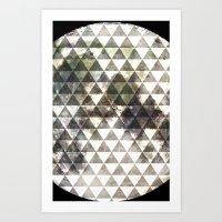 lunar Art Prints featuring Lunar. by Tyler Rice