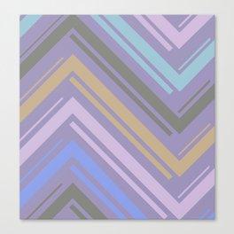 Purple Zigzag Line Pattern Canvas Print