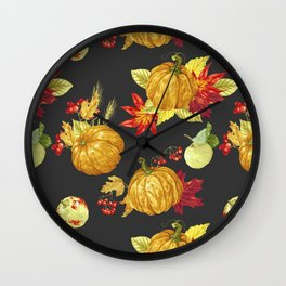 Harvest Season Pattern Wall Clock