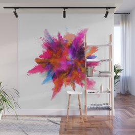 Colorful explosion Wall Mural