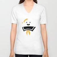 ghostbusters V-neck T-shirts featuring Ghostbusters by FilmsQuiz