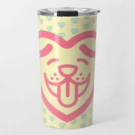 Puppy Love (Pink) Travel Mug