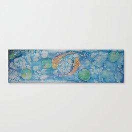 Koi Pond Batik Canvas Print